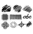 grunge hand drawn geometric elements vector image vector image