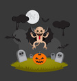 Halloween Monster vector image