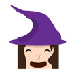 happy halloween cartoon witch avatar vector image vector image