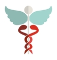 Health symbol with Serpents entwined vector image