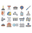 home tools icon set cartoon style vector image