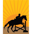 horse jumper vector image vector image
