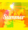 hot summer background with bright color brush vector image