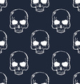 Human Skull Seamless Pattern vector image vector image