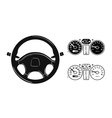 icon steering wheel vector image vector image