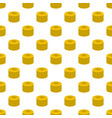 investment coin pattern seamless vector image vector image