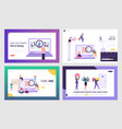 job seekers searching work website landing page vector image vector image