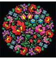 Kalocsai folk art embroidery - Hungarian vector image vector image