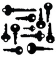 key silhouette vector image vector image