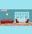 living room interior design with sofa armchairs vector image