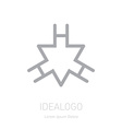 logo with triangle and letter H Logotype template vector image vector image