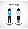 Man and woman toilet sign vector image