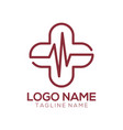 medical logo and icon design vector image