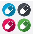 Medical pill sign icon Drugs symbol vector image