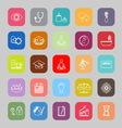 Meditation line flat icons vector image