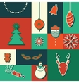 merry christmas icon card vector image vector image