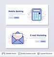 message and calculator symbols vector image vector image