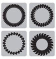 monochrome set of icons with springs vector image vector image
