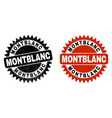 montblanc black rosette watermark with corroded vector image vector image