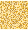 Numbers Seamless pattern vector image