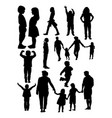 people silhouette vector image