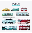 Public Transportation vehicles design vector image vector image