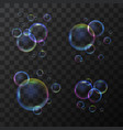 realistic 3d detailed soap bubble set on a vector image vector image