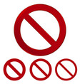 red prohibition sign warning circle and vector image vector image