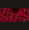 red roses watercolor background template vector image vector image
