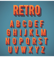 Retro 3D Alphabet Set vector image