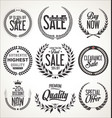 sale retro vintage laurel wreath label collection vector image