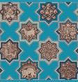 seamless pattern in the form of persian tiles vector image