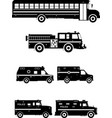 set different special cars vector image vector image