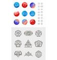 set geometric abstract logos badges vector image vector image