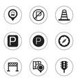 set of 9 editable location icons includes symbols vector image vector image