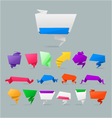 set of colorfu paper rigami banners vector image