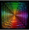 Shining lights rainbow colors frame vector image vector image
