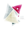 Shiny glass triangle web box vector image vector image