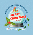 snow globe for 2018 merry christmas and new year vector image vector image