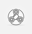 spinner thin line icon vector image vector image