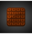 square Chocolate icons on Valentine s Day vector image