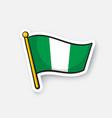 sticker national flag nigeria vector image vector image