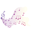 The different musical notes vector image vector image
