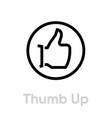 thumb up down icon editable line vector image vector image