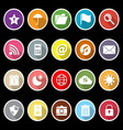 Tool bar icons with long shadow vector image vector image