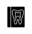 tooth record - medical dentist report icon vector image