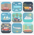 Transport App Icons Set vector image vector image