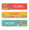 transport truffic banner set vector image vector image