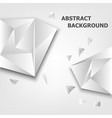 triangle 3d polygon abstract background vector image