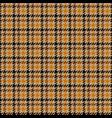 tweed brown houndstooth seamless pattern vector image